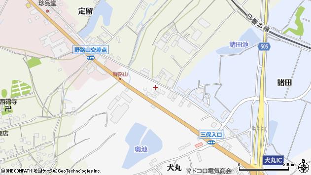 大分県中津市犬丸2399周辺の地図
