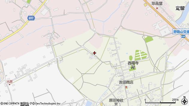 大分県中津市北原529周辺の地図