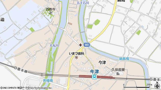 大分県中津市今津844周辺の地図