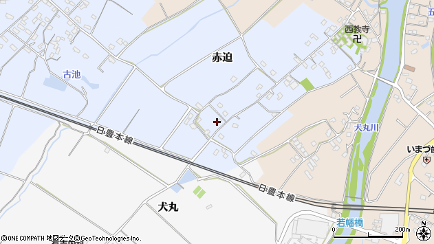 大分県中津市赤迫33周辺の地図