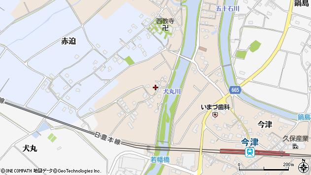 大分県中津市今津661周辺の地図