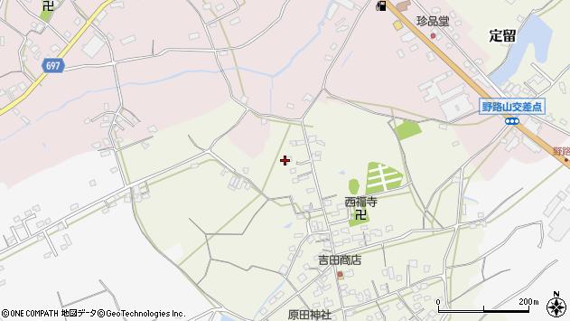 大分県中津市北原561周辺の地図