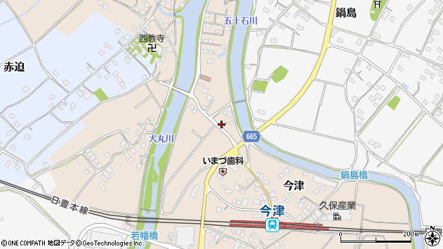 大分県中津市今津843周辺の地図