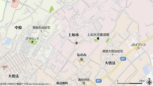 大分県中津市上如水1023周辺の地図