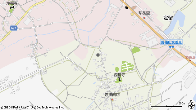 大分県中津市北原557周辺の地図