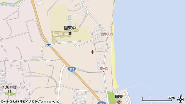 大分県国東市国東町田深三本松周辺の地図