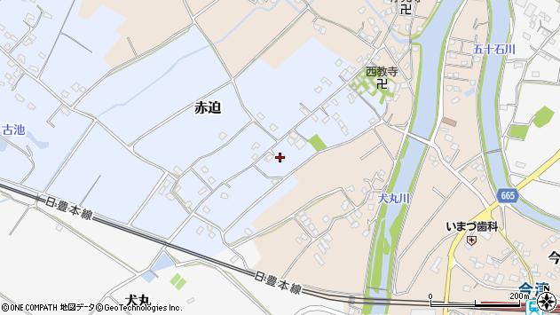 大分県中津市赤迫89周辺の地図