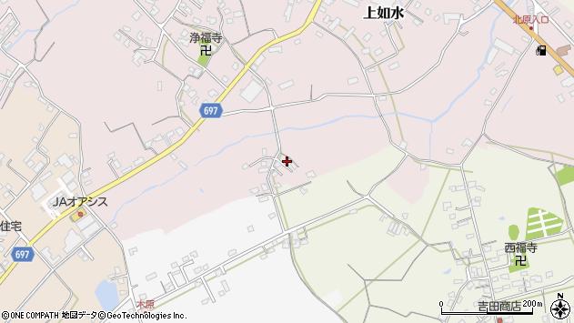大分県中津市上如水1705周辺の地図