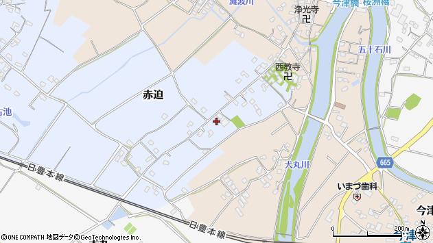 大分県中津市赤迫99周辺の地図