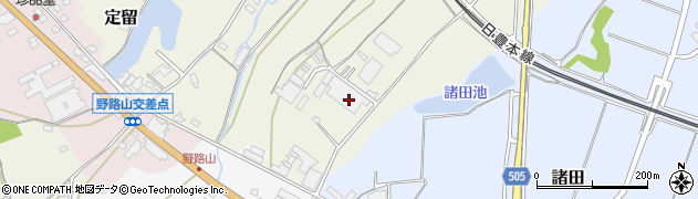 大分県中津市定留18周辺の地図