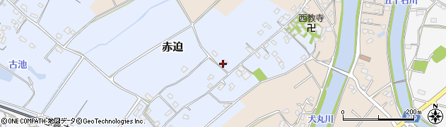 大分県中津市赤迫106周辺の地図