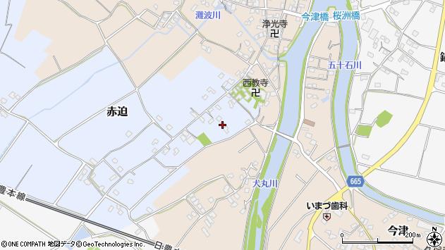 大分県中津市赤迫122周辺の地図