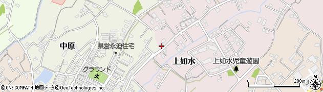大分県中津市上如水687周辺の地図