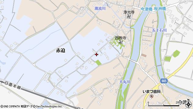 大分県中津市赤迫113周辺の地図