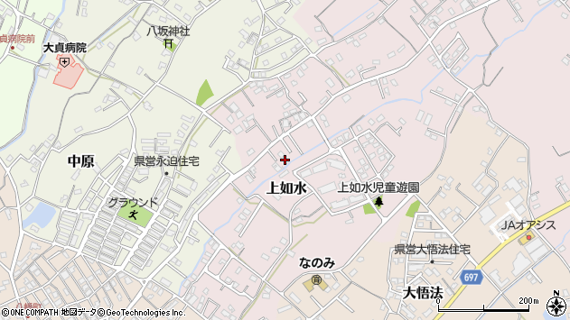 大分県中津市上如水690周辺の地図