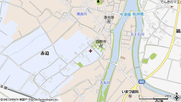 大分県中津市赤迫157周辺の地図