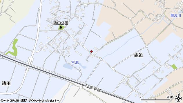 大分県中津市赤迫432周辺の地図