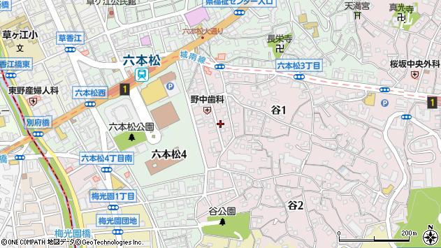 福岡県福岡市中央区谷周辺の地図