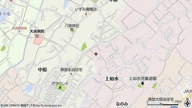 大分県中津市上如水664周辺の地図