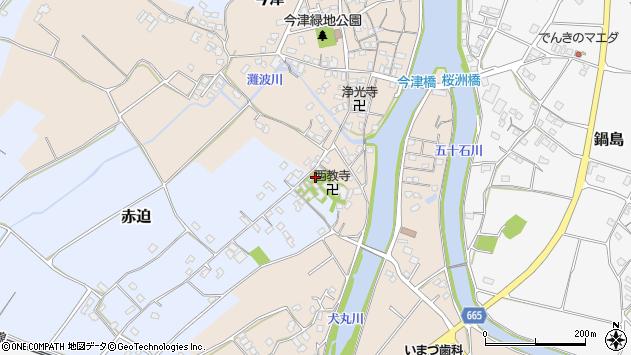 大分県中津市今津622周辺の地図