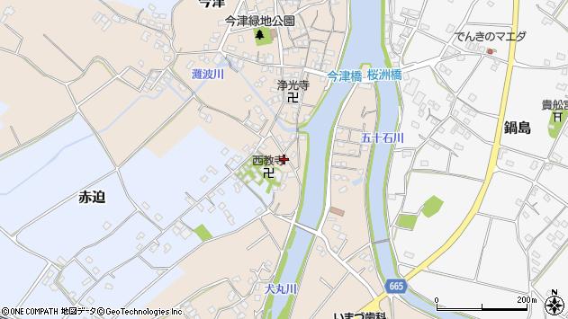 大分県中津市今津691周辺の地図