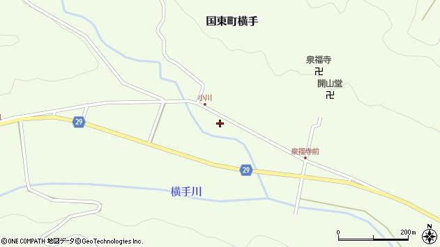 大分県国東市国東町横手2037周辺の地図