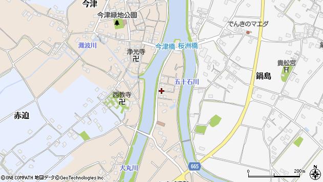 大分県中津市今津1150周辺の地図