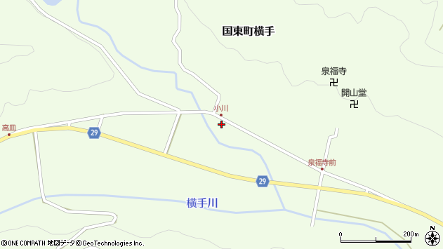 大分県国東市国東町横手2054周辺の地図