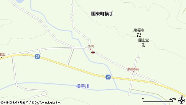 大分県国東市国東町横手2044周辺の地図