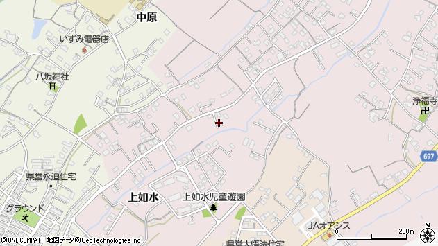 大分県中津市上如水704周辺の地図