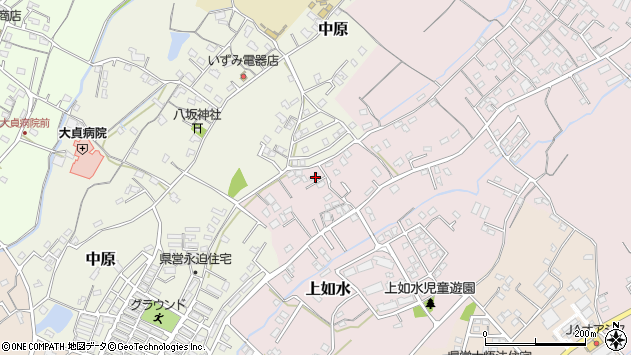 大分県中津市上如水655周辺の地図
