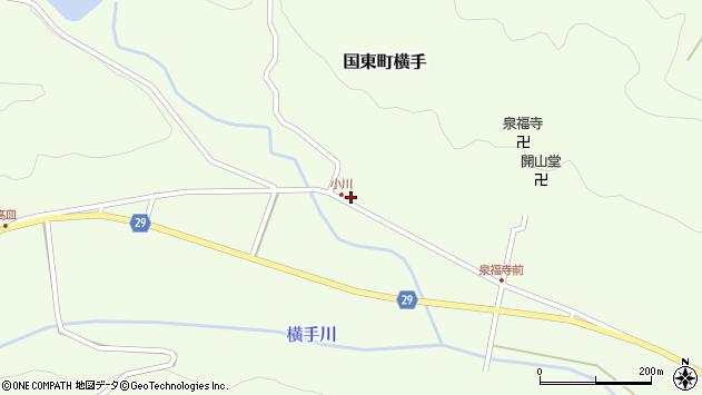 大分県国東市国東町横手2128周辺の地図