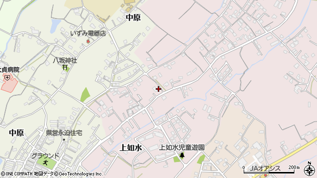 大分県中津市上如水632周辺の地図
