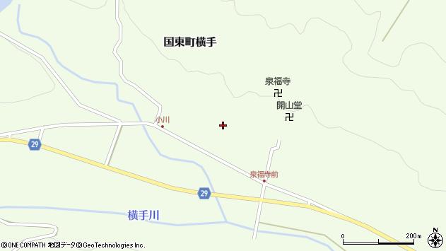 大分県国東市国東町横手1885周辺の地図