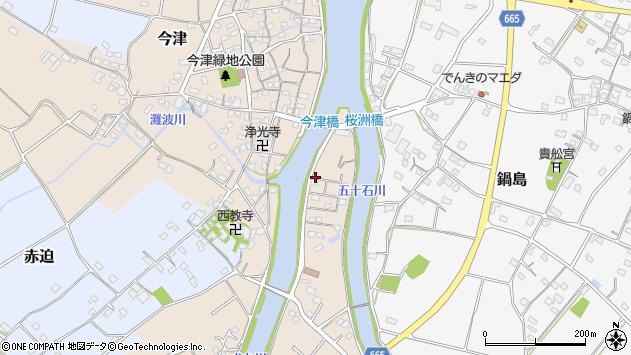 大分県中津市今津1153周辺の地図