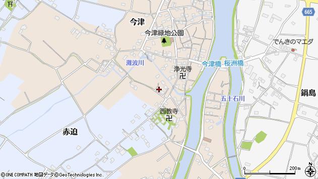 大分県中津市今津592周辺の地図