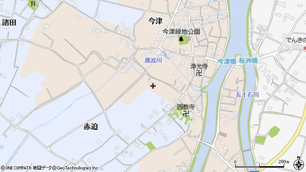 大分県中津市今津603周辺の地図
