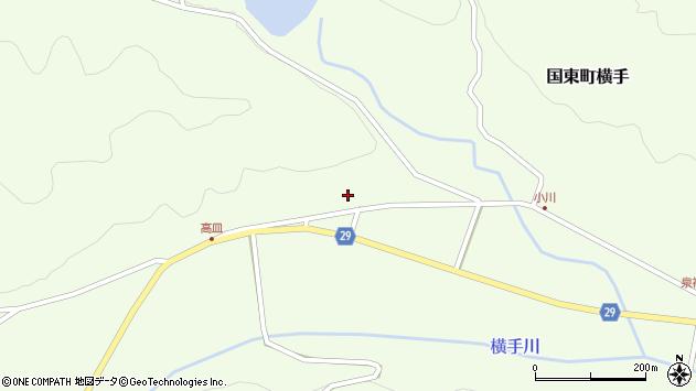 大分県国東市国東町横手2854周辺の地図
