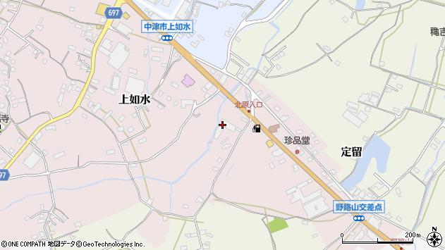 大分県中津市上如水1780周辺の地図