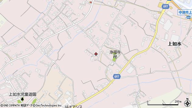 大分県中津市上如水1135周辺の地図