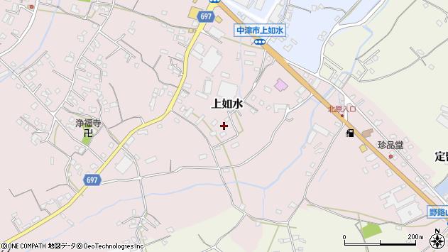大分県中津市上如水1541周辺の地図