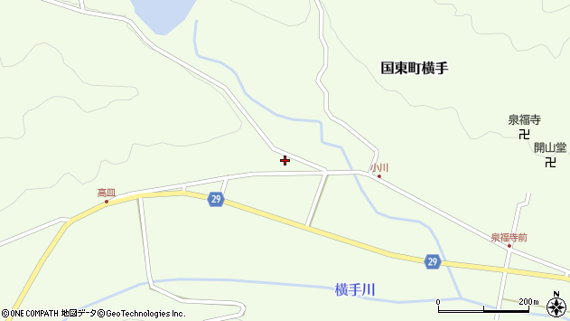 大分県国東市国東町横手2620周辺の地図