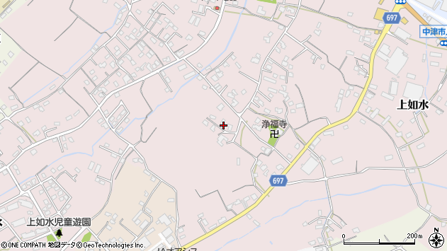 大分県中津市上如水1133周辺の地図