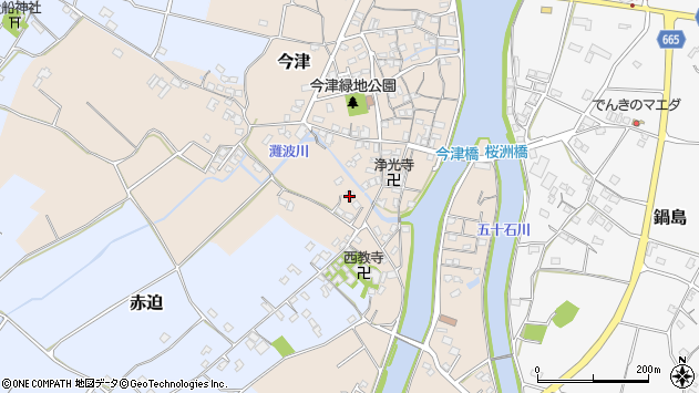 大分県中津市今津593周辺の地図