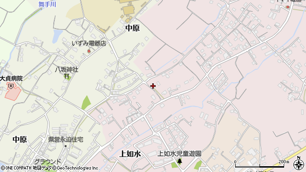 大分県中津市上如水601周辺の地図