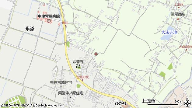 大分県中津市上池永621周辺の地図