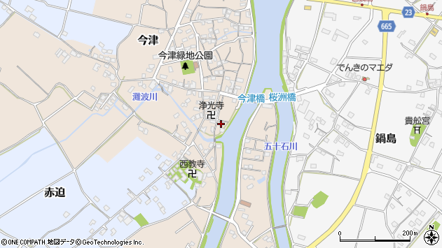 大分県中津市今津582周辺の地図