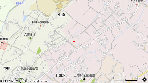大分県中津市上如水602周辺の地図