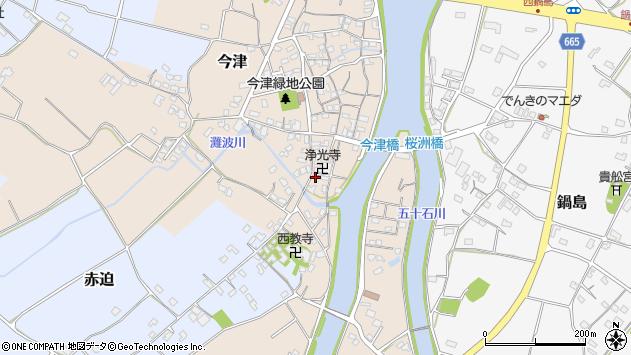 大分県中津市今津581周辺の地図