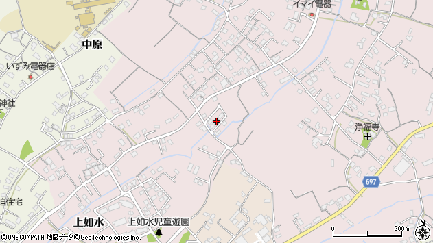 大分県中津市上如水718周辺の地図